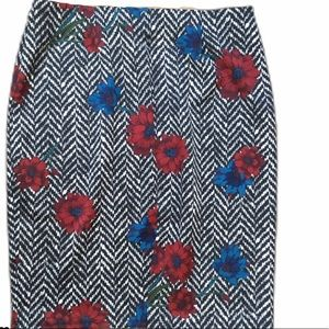 NYCC Floral Pencil Skirt Large Stretch